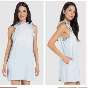 Anthropologie Cloth and Stone Chambray Dress XS